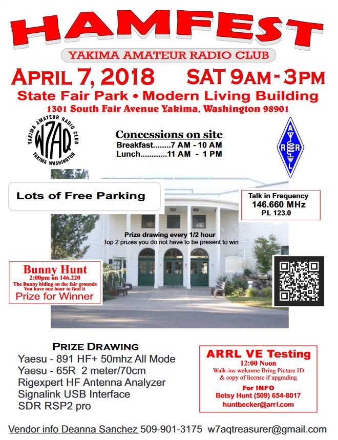 Yakima Hamfest, April 7, 2018 – Lower Valley Assembly